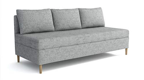Preisvergleich Produktbild Boxspringbett LAS Vegas 2 Sofa 90x200cm Bett mit Bettkasten im Stoff Farbauswahl (Beige)
