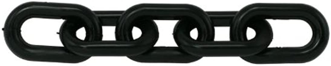 Chain Plastic Barrier Chain, Black, 1.5-Inch Link Diameter, 25-Foot Length