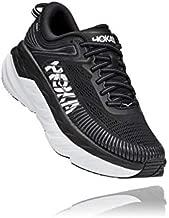 HOKA ONE ONE Women's Bondi 7 Running Shoe, Black/White, 8.5
