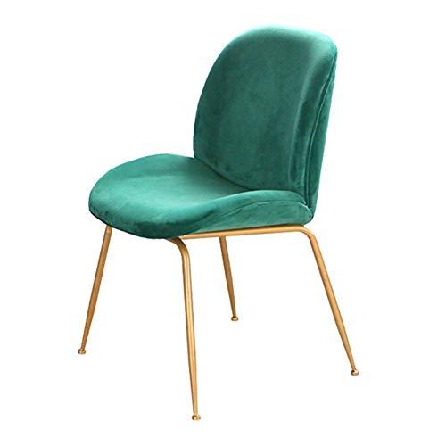 XXQ Sillones Suaves, cómodo y Transpirable Comedor nórdica for sillas de Hierro Forjado Silla Respaldo Inicio Hotel Café Mesa Redonda Silla Tea Shop Ocio, BFT (Color : D)