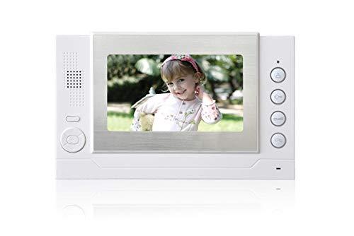 """Nudito N708 Videoportero Cableado. 7"""" LCD Monitor con Pantalla Táctil. Telefonillo Portero Automático para Casa. Interfono Intercomunicador compatible con Nudito Portero. Instrucciones en español."""