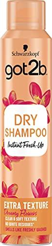 Schwarzkopf got2b Got2b - Champú Seco Textura Extra, 200 ml, Refresca tu cabello al instante, adecuado para peinados