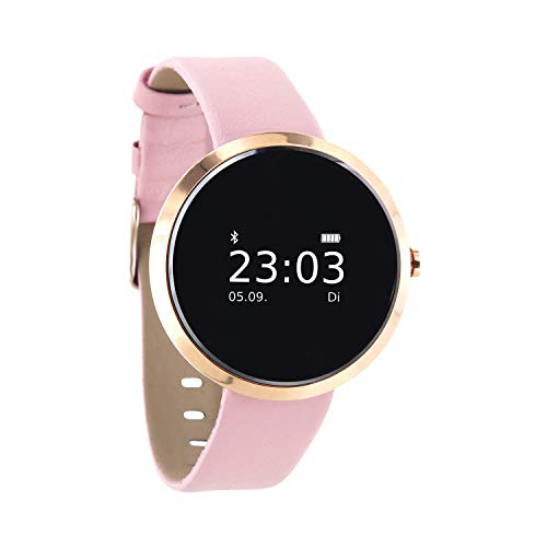 X-Watch 54010 Siona XW Fit Dames Smartwatch, Activity Tracker voor Android En Apple iOS, Lichtroze Goud