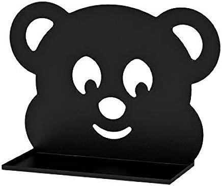 Children s Room Wall Shelf with Teddy Bear Design Black