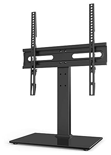 TabloKanvas Universal TELEVISOR Stand - por 27-55 Pulgadas LCD LED Vs - 9 Altura de Nivel Ajustable TELEVISOR Soporte Base (Color : Black)