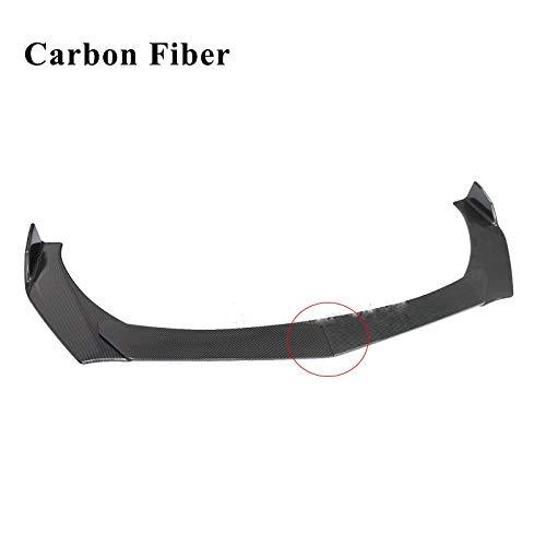 QIUXIANG 4 PCS Frontal Bumper Lip Spoiler Spinger Splitter Gloss Black Carbon Fibra Universal para Volkswagen para Golf Mk6 / 7/7.5 para Benz/para Honda/Fro Toyota (Color : Carbon Fiber 2)
