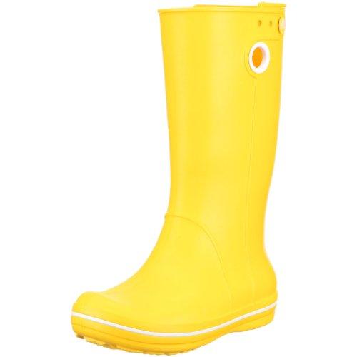 Crocs Women's Crocband Jaunt Rain Boots, Yellow, 10