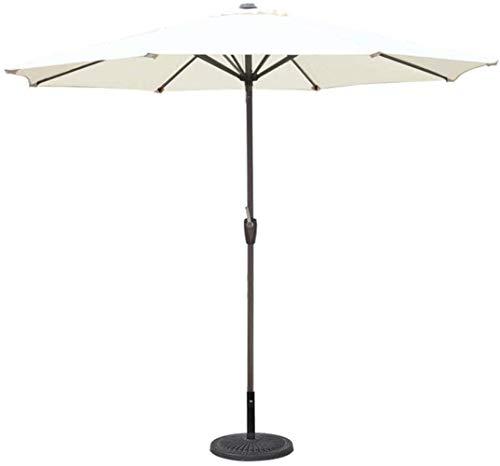 MISS KANG Paraguas para exteriores de 2,72 m, estilo de mercado para balcón, mesa, terraza, jardín, terraza, terraza, patio, piscina o piscina, 8 Qingchunw (color: blanco, tamaño: 270 cm)