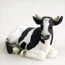 HOLSTEIN COW TINY ONES DOG FIGURINE CONVERSATION CONCEPTS NEW