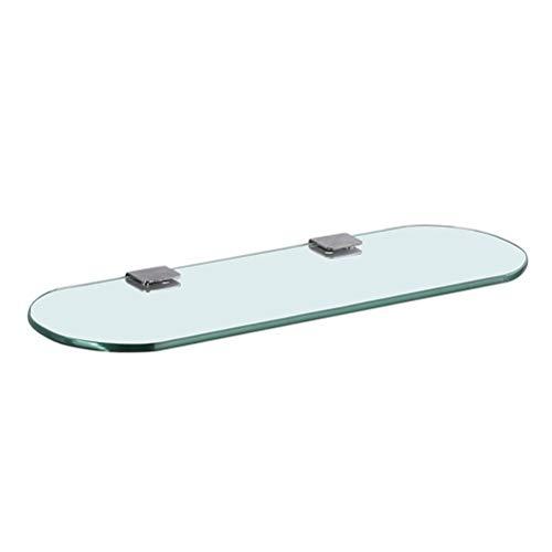 ZhanMaZW Handtuchhalter Glasregal mit abgerundeten Ecken 30~60 cm Badezimmer Küche Schlafzimmer Organizer Regale Schlags-Montag (Size : 60cm)