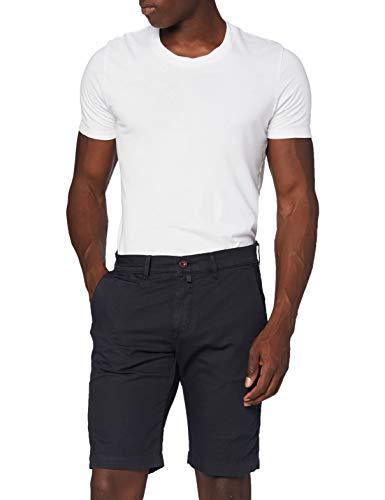 Pierre Cardin Herren Leinen Bermuda Shorts, Blau (Navy 68), W(Herstellergröße: 40)