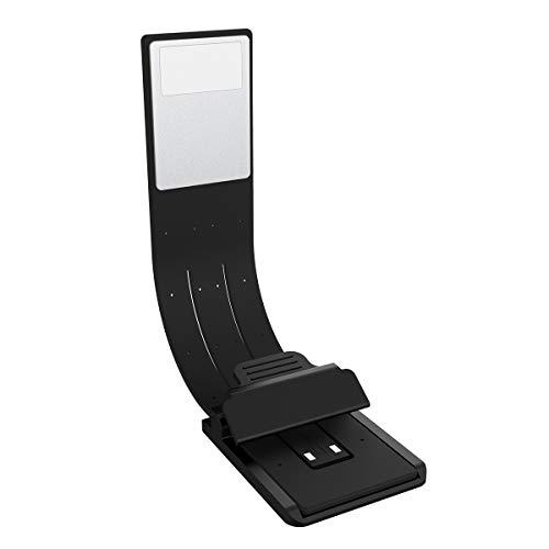 TankerStreet Leselampe Buchlampe USB Wiederaufladbar Flexibel LED Leselicht mit Klemme 4 Stufen Helligkeit Einstellbar Tragbare Klemmleuchte als Lesezeichen und Lampe für Kindle Bett Buch iPad Schwarz