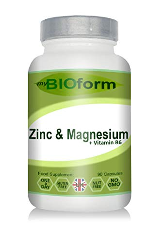 Zinc & Magnesium + Vitamin B6 1-A-Day Capsules - 3 Month Supply - myBIOform - Made in The UK