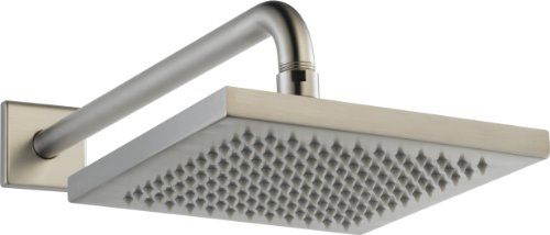 Delta Faucet Single-Spray Touch-Clean Rain Shower Head, Stainless 57740-SS