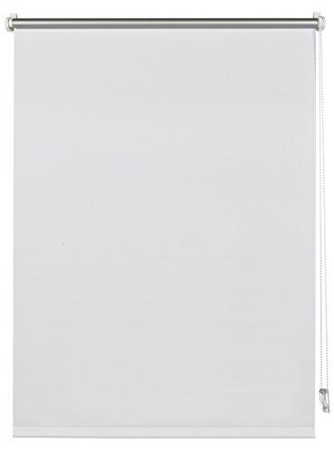Deco Company 23-1027 Tenda a rullo con rivestimento termico con morsetto o adesiva, Elevato riflesso della luce, Risparmio energetico, Kit di montaggio incluso, Bianco, 45 x 150 cm