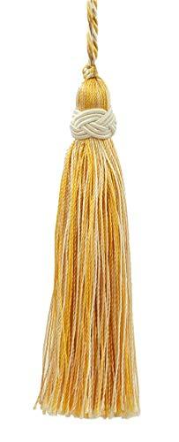 Set of 10 Decorative Light Sand Gold 10cm Tassel, Imperial II Collection Style# ITS Color: Lemon Meringue - B2523