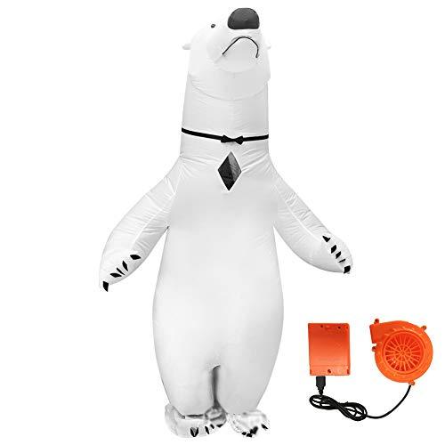 Costume Gonfiabile Dell'orso Polare Gonfiabile Costume Adulto Gioco Cosplay Costume Gonfiabile con Ventola/Costume di Halloween