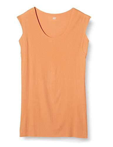 [グンゼ] インナーシャツ YG Tシャツ専用 in.T(インティー) CUT OFFシリーズ クルーネックスリーブレス 汗取りパッド付 メンズ スモークオレンジ 日本 L (日本サイズL相当)