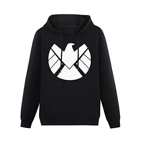 Youth Cotton Sweatshirt Blend Hoody Agent of Shield Logo Long Sleeve Hoodies PulloverBlackS