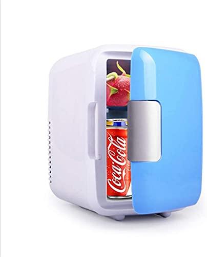 FDGSD Mini refrigerador de 4L, refrigerador pequeño y Calentador de sobremesa, refrigerador portátil para automóvil, Encendedor para automóvil y hogar