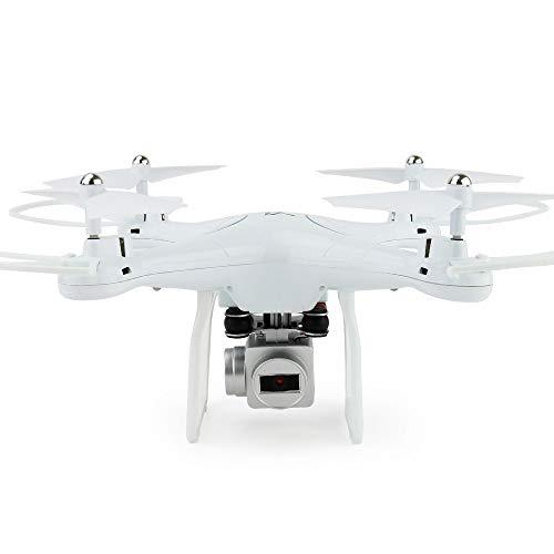 Luyshts Juguetes Quadcopter HD Antena Transmisión Inalámbrica En Tiempo Real Aviones No Tripulados De Juguete for Niños (Color : White)