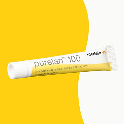 Medela Purelan Nipple Cream, Lanolin Breast Cream for Nursing & Breastfeeding, 7 g