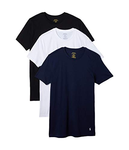 Polo Ralph Lauren Classic Fit w/Wicking 3-Pack Crews Cruise Navy/White/Black XL
