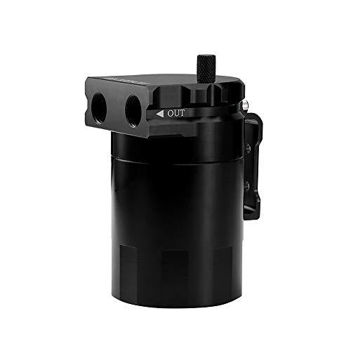 KKmoon Tanque Aluminio Motor Oil Catch Can Reservoir Breather con Accesorios sólidos