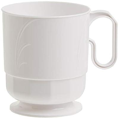 Lillian Tablesettings Plastic 8 oz | Pearl Elegance | Pack of 40 Drinkware, 40 count
