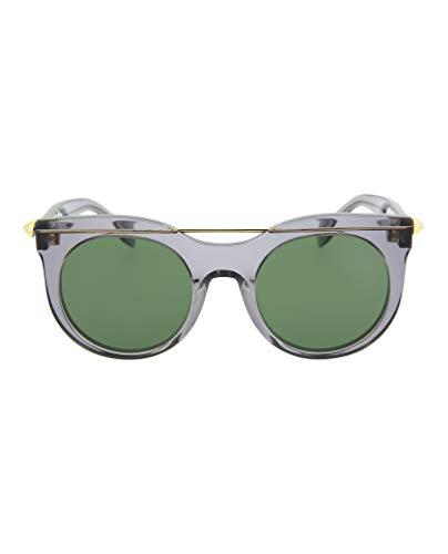 Alexander McQueen AM0001S 002 52 Gafas de Sol, Gris (002-Grey/Green), Mujer
