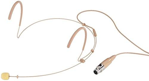 MONACOR HSE-130/SK ultralichte hoofdbeugelmicrofoon, bolkarakteristiek, beige