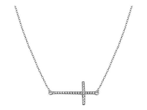 SOFIA MILANI Collar Mujer Cadena Colgante Cruz Plata de Ley 50008