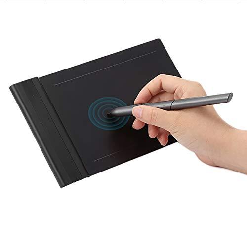 FVAL Grafik Zeichnung Tablet-Brett 6 X 4-Zoll Grafiktablett Zeichentablett Grafiktablett Pen Tablet,mit Batterieloser Stift Pen /8192 Druckempfindlichkeit kompatibel