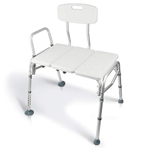 GET IN AND OUT SAFELY: Safely enter and exit the bathtub with confidence. The transfer bench supports up to 300 pounds and provides independence for seniors and for those with limited mobility. QUICK AND EASY ASSEMBLY: The transfer bench comes partia...