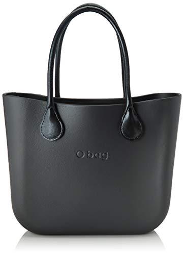 O bag Damen Handtasche Graphit Unica