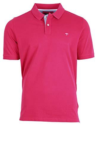 FYNCH-HATTON Herren Polo, Contrasts Poloshirt, Rot (Fruit Pink 435), XXX-Large (Herstellergröße: 3XL)