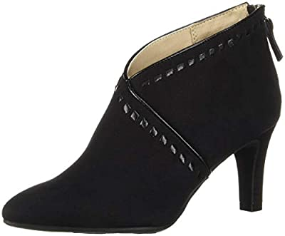 LifeStride Women's GIADA Ankle Boot, Black, 7.5