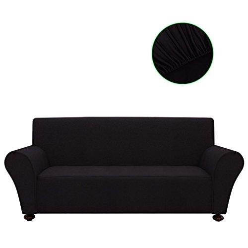 Zora Walter–Funda Funda de sofá para sofá Funda elástica Negro Poliéster de Jersey Bedroom, Antideslizante y elástico sofá Funda de colchón para Perros/Gatos