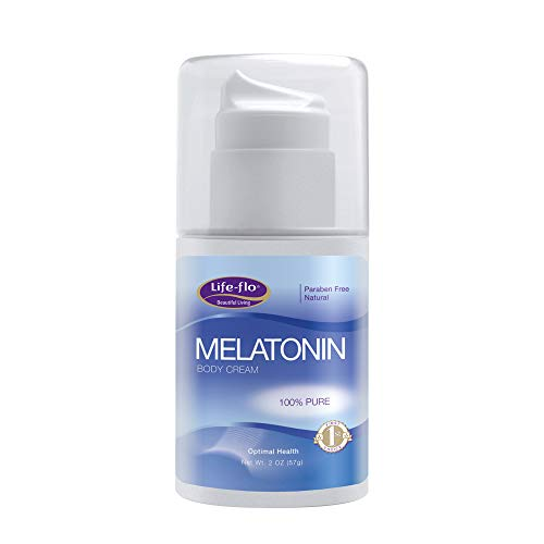Life-Flo Melatonin Body Cream   Nighttime Relaxation Cream Soothes & Moisturizes Dry Skin   High Absorption   No Parabens, Unscented   2oz