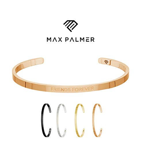 Max Palmer | BFF Armband/Armreif mit Spruch Gravur Friends Forever [03.] - Rosegold