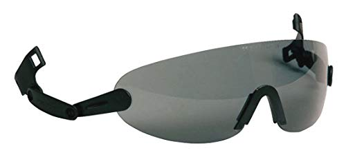 3M Safety Glasses, ANSI Z87, Anti-Fog Gray Lens, Attaches to Hard Hat Suspension