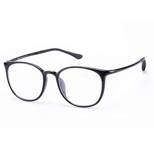 Cyxus Kids Blue Light Glasses Clear Lens Computer Eyeglasses for Boys and Girls Age 7-16 (Black,6061T01)