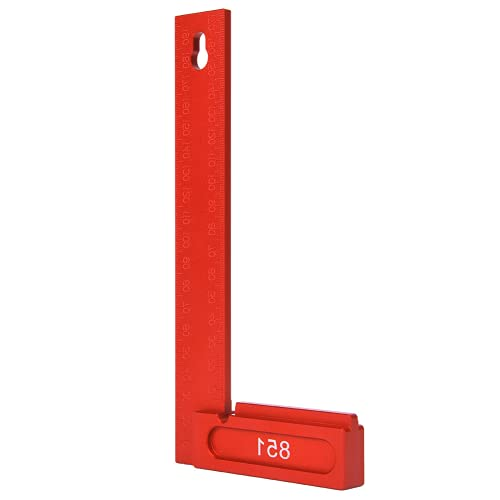 Regla, herramienta de medición de alta resistencia Regla L Regla en ángulo recto para trabajos de carpintería(851 cuadrado)