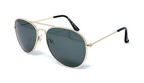 VENICE EYEWEAR OCCHIALI Gafas de sol Polarizadas PILOTO - protección 100%… (Dorado-Verde)