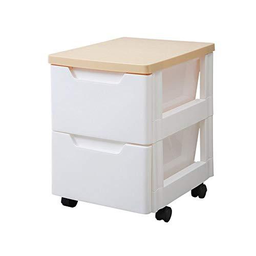 ASDAD badkamer plank mode Scandinavische stijl eenvoudige witte plastic opbergplanken met wielen kleine 2-tier nachtkastje verplaatsbare lade opbergkasten Mini slaapkamer kluisjes Collatie frame