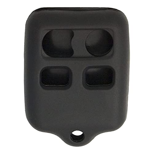 Keyless2Go Replacement for New Silicone Cover Protective Case for 4 Button Remote Key Fobs FCC CWTWB1U345 CWTWB1U331 - Black