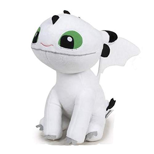 HTTYD Drachenzähmen leicht gemacht - Dragons - Plüsch Baby Drache weiß mit grünen Augen 10