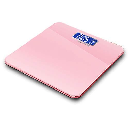 3 Farben Waage Präzisionsgewicht Elektronische Waage Personenwaage Smart Balance Haushaltswaage für die menschliche Gesundheit,Rosa