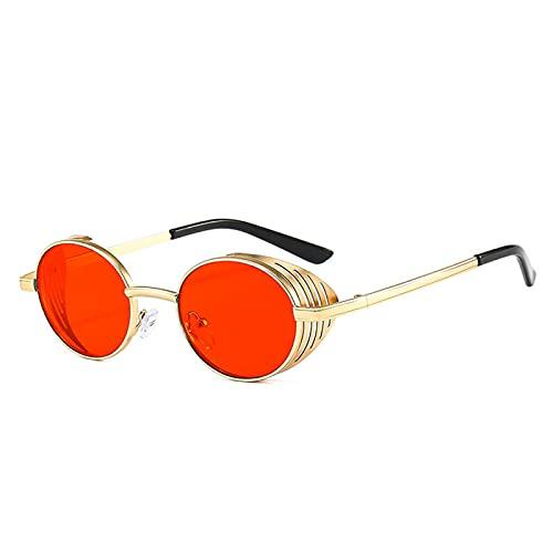 Sunglasses Gafas de Sol de Moda Diseño Redondo Steampunk Gafas De Sol Hombres Mujeres Vintage Shades Protección UV Punk