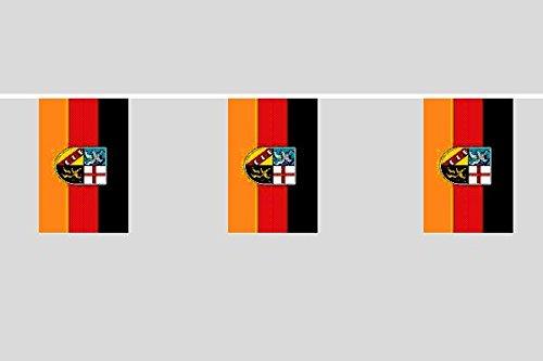 U24 Flaggenkette Saarland 10,40 m Fahne Flagge Fahnenkette